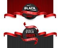 Μαύρα ιπτάμενα πώλησης Παρασκευής που τίθενται για την επιχείρηση επίσης corel σύρετε το διάνυσμα απεικόνισης διανυσματική απεικόνιση