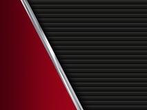 Μαύρα και κόκκινα υπόβαθρα μετάλλων αφηρημένη απεικόνιση Στοκ εικόνες με δικαίωμα ελεύθερης χρήσης