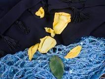 Μαύρα και μπλε μαντίλι στοκ εικόνα