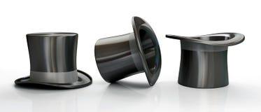 μαύρα καπέλα τρία κορυφή απεικόνιση αποθεμάτων