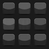 Μαύρα κατασκευασμένα πρότυπα εικονιδίων Στοκ εικόνες με δικαίωμα ελεύθερης χρήσης