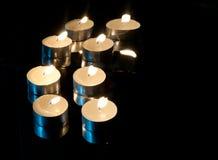 μαύρα κεριά ανασκόπησης Στοκ Φωτογραφία