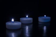 μαύρα κεριά ανασκόπησης Στοκ Εικόνα