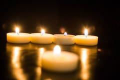 μαύρα κεριά ανασκόπησης Στοκ φωτογραφίες με δικαίωμα ελεύθερης χρήσης