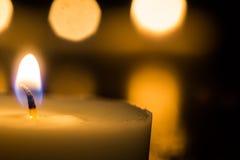 μαύρα κεριά ανασκόπησης Στοκ Φωτογραφίες