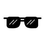 Μαύρα κινούμενα σχέδια γυαλιών ηλίου εικονιδίων Στοκ Εικόνες