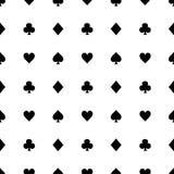 Μαύρα κοστούμια καρτών στο άσπρο υπόβαθρο επίσης corel σύρετε το διάνυσμα απεικόνισης απεικόνιση αποθεμάτων