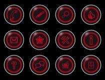 μαύρα κουμπιά Διαδίκτυο στοκ φωτογραφία