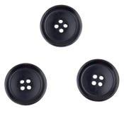 μαύρα κουμπιά τρία Στοκ Φωτογραφίες