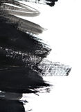 Μαύρα κτυπήματα βουρτσών στη Λευκή Βίβλο Στοκ Εικόνες