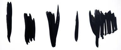 μαύρα κτυπήματα βουρτσών Στοκ Φωτογραφία