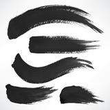 Μαύρα κτυπήματα βουρτσών watercolor Στοκ Φωτογραφία