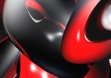 μαύρα κόκκινα δαχτυλίδια Στοκ Εικόνες