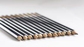 Μαύρα μολύβια σκίτσων Στοκ φωτογραφία με δικαίωμα ελεύθερης χρήσης