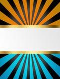 Μαύρα, μπλε και κίτρινα λωρίδες Στοκ Εικόνες