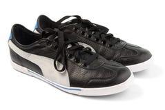 Μαύρα πάνινα παπούτσια Στοκ εικόνα με δικαίωμα ελεύθερης χρήσης