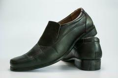 μαύρα παπούτσια δέρματος Στοκ εικόνα με δικαίωμα ελεύθερης χρήσης