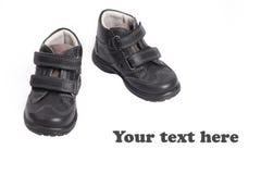 μαύρα παπούτσια δέρματος κατσικιών s Στοκ φωτογραφία με δικαίωμα ελεύθερης χρήσης