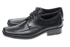 μαύρα παπούτσια ζευγαρι&omic Στοκ Φωτογραφία