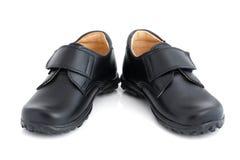 μαύρα παπούτσια παιδιών s στοκ φωτογραφία με δικαίωμα ελεύθερης χρήσης