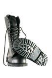 μαύρα παπούτσια στρατού Στοκ Εικόνα