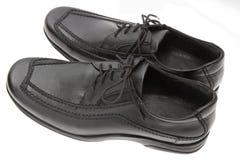 μαύρα παπούτσια Στοκ Φωτογραφίες