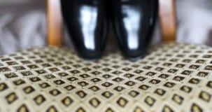 Μαύρα παπούτσια elegand απόθεμα βίντεο