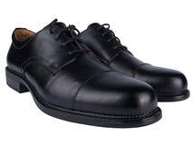 μαύρα περιστασιακά παπούτσια ζευγαριού ατόμων Στοκ Φωτογραφία