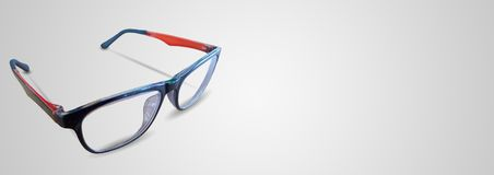 Μαύρα πορτοκαλιά γυαλιά ματιών στο άσπρο υπόβαθρο Στοκ Εικόνες