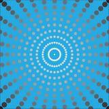 Μαύρα σημεία στο μπλε υπόβαθρο Στοκ Εικόνα