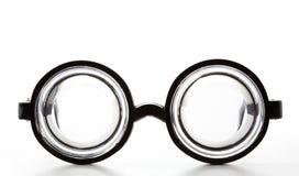 Μαύρα στρογγυλά γυαλιά μπουκαλιών Στοκ φωτογραφία με δικαίωμα ελεύθερης χρήσης
