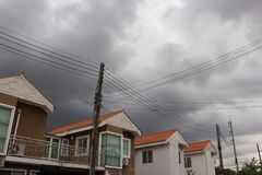 μαύρα σύννεφα βροχής στοκ εικόνες με δικαίωμα ελεύθερης χρήσης