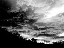 Μαύρα σύννεφα θύελλας Στοκ Φωτογραφίες