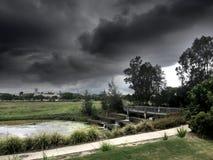 μαύρα σύννεφα Στοκ Φωτογραφία