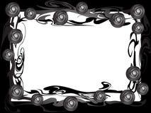 μαύρα τριαντάφυλλα πλαισί Στοκ Εικόνα