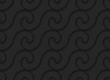 Μαύρα τρισδιάστατα οριζόντια σπειροειδή λεπτά κύματα Στοκ φωτογραφία με δικαίωμα ελεύθερης χρήσης