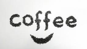 Μαύρα φασόλια καφέ Στοκ Φωτογραφία