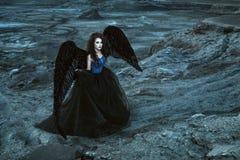 μαύρα φτερά αγγέλου Στοκ φωτογραφία με δικαίωμα ελεύθερης χρήσης