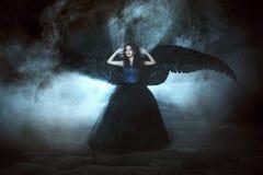 μαύρα φτερά αγγέλου Στοκ εικόνες με δικαίωμα ελεύθερης χρήσης