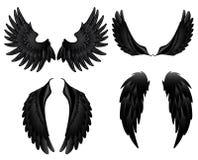 Μαύρα φτερά διανυσματική απεικόνιση