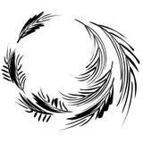 μαύρα φύλλα μελανιού κύκλ&om ελεύθερη απεικόνιση δικαιώματος