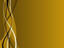 μαύρα χρυσά κύματα Στοκ φωτογραφία με δικαίωμα ελεύθερης χρήσης