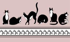 μαύρα ψάρια γατών συνόρων διανυσματική απεικόνιση
