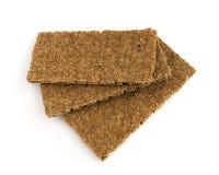 Μαύρα Crumbs ψωμιού που απομονώνονται Στοκ εικόνα με δικαίωμα ελεύθερης χρήσης