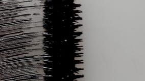 Μαύρα mascara κτυπήματα βουρτσών στο λευκό Στοκ φωτογραφίες με δικαίωμα ελεύθερης χρήσης
