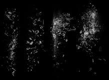 μαύρα shards γυαλιού στοκ φωτογραφίες με δικαίωμα ελεύθερης χρήσης