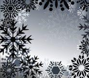 μαύρα snowflakes καθιερώνοντα τη μό&delta Στοκ Εικόνες