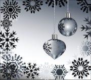 μαύρα snowflakes μπιχλιμπιδιών Στοκ Φωτογραφίες