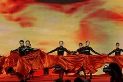 Μαύρες αποδόσεις τουλίπα-τραγουδιού και χορού Στοκ Φωτογραφία