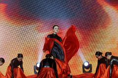 Μαύρες αποδόσεις τουλίπα-τραγουδιού και χορού Στοκ εικόνα με δικαίωμα ελεύθερης χρήσης